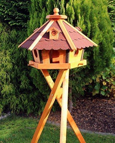 Holzvogelhaus, Vogelhäuser mit Standfuss Typ 24 (Rot)