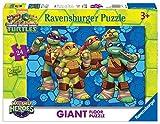 Ravensburger Italy 54701 - Puzzle Half Shell Heroes Giant Floor, Eroi Ninja in Azione, 24 Pezzi, Multicolore