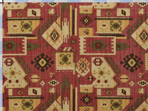 Tessuto da tappezzeria, rivestimento in tessuto, tessuto da tappezzeria, tessuto, tessuto della tenda, tessuto - etno, Akamba, rosso - bella extra largo tessuto stampato con motivi