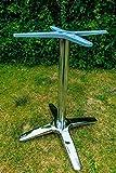 Unbekannt VARILANDO® Robustes Gastronomie-geeignetes Tischgestell aus Aluminium Gartentisch-Gestell Metall-Tischgestell