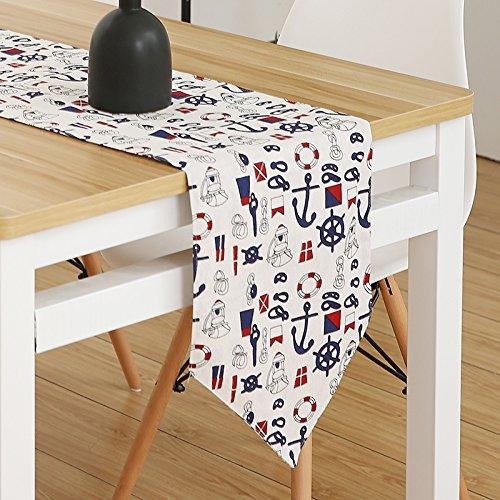 Idyllische moderne minimalistische Stil Bett Flag schöne Esstisch Flag Tabelle Flagge Trends städtischen nordischen japanischen Hyun Gateway, Harbor Stempel, 30 * 140 Cm (Gateway-bett)