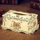 Boîte de tissus en céramique européenne Boîte de réception rétro Salle de séjour Chambre Salle de réunion Boîte à tissus de qualité supérieure...