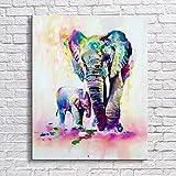 Tianzhensuiyue@ Handgemalte Farbe Tiere Ölgemälde Hängen Gemälde Moderne Elefanten Bild Für Wohnkultur Leinwand Malerei