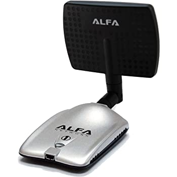 Alfa AWUS036H Upgraded to 1000mW 1W 802.11b/g High Gain USB Wireless Long-Rang WiFi network Adapter with 5dBi Rubber Antenna and a 7dBi Panel Antenna - for Wardriving & Range Extension *Strongest on the Market*