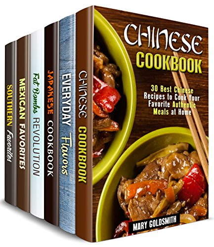 Fabulous Flavors Box Set (6 in 1): Over 180 Recipes from around the Globe with Rich Flavors and Authentic Twists (Authentic Meals Cookbook) (English Edition)