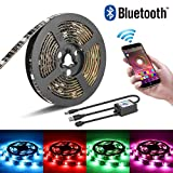 LED Streifen TV Hintergrundbeleuchtung, Furado 2m LED Streifen Licht RGB SMD5050 USB Powered, Android und IOS Smartphone Bluetooth Kontrolliert LED Strip Licht Streifen für TV PC Computer Schrank