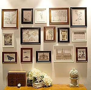 bilderrahmen set 15 teilig gro zum versch nern einer wandfl che von ca 90cm x. Black Bedroom Furniture Sets. Home Design Ideas