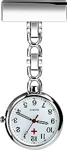 BestFire, orologio da taschino con spilla, movimento al quarzo, per infermieri e medici, unisex, in confezione regalo