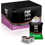 Lot de 100 capsules Pop E-Tuo crème compatible Aroma véritable, Coop Fiore, Fleur, Lui Café