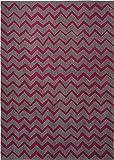 Esprit Marken Teppich, hochwertig im zeitlosen Zick-Zack Design Kalahari (70 x 140 cm, grau/pink)