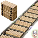 Via di legno 25x250 cm da giardino in legno calci calci, piastrelle di legno per il percorso nel giardino