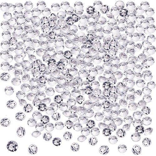 Blulu 2000 Stück 6 mm Plexiglas Diamant Streuung Diamantkristalle Dekosteine Hochzeit Crystal Tisch Confetti...