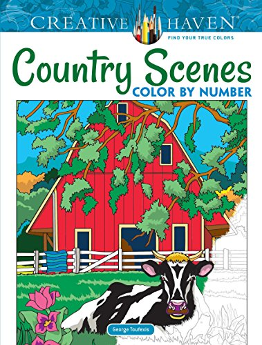 Creative Haven Country Scenes Color by Number (Adult Coloring) por George Toufexis