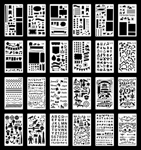 Zeichen Schablonen Kunststoff Vorlage DIY Grafiken Schablonen f/ür Tagebuch Bullet Journal Scrapbooking Notizbuch