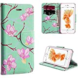 """iPhone 8/7 Case, Insten [Leather] Stand Wallet Purse Phone Case with Card Slots and Flip Cover for iPhone 8/7 (4.7"""") Case, ese Blossom"""