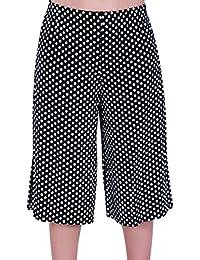 Eyecatch - Damen Breite Bein Moderne Damen Hosenrock Kurzs Hose Hose