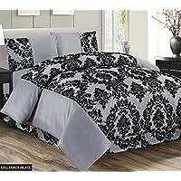 Super Luxury Damask Flock 4pcs Complete Bedding Sheet Set -