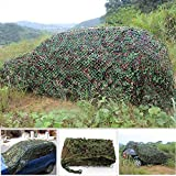 skybeefeng Camouflage Net Camo Netting Woodland Military Car Cover Hunting Camping Tent, 3x5