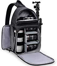 RUBRIC® Camera Bag Sling Backpack, Camera Case Waterproof with Modular Inserts Tripod Holder for DSLR/SLR and Mirrorless Came