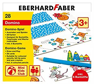 Eberhard Faber 579943 Domino Parte para Colorear Incluye lápices