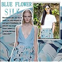 Abito in chiffon georgette Nuovo vestito blu fiore fresco di seta preferito 2015 estate / tessuto