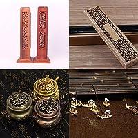 ELECTROPRIMEÃ'® 2Pieces Box Joss Stick Burner Handmade Natural Ash Catcher Incense Holder
