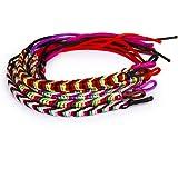 9pcs Colores trenzado pulseras de la amistad hilo tobillo Oración Pulsera Tobillera Joyería
