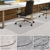 casa pura PVC Chair Mat for Carpet Floor | Floor Protector for Low Pile Carpets | 100x120cm | 2.3mm Thick | Weight Capacity up to 100KG | Multiple Sizes