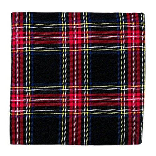"Tartanista - Tissu pour plaid - motif tartan - 269 x 134,5 cm (106"" x 53"") - Black Stewart - 268 x 135 cm"