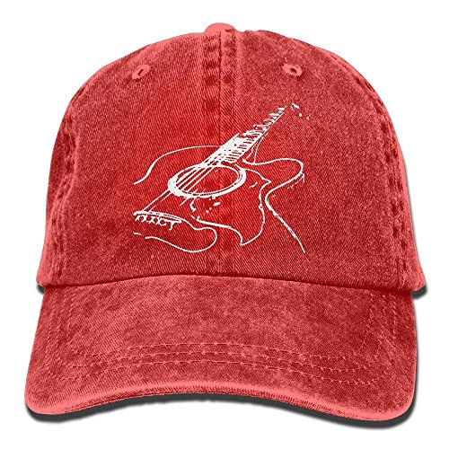 ferfgrg Unisex Acoustic Guitar 1 Vintage Jeans Baseball Cap Classic Cotton Dad Hat Adjustable Plain Cap HI598