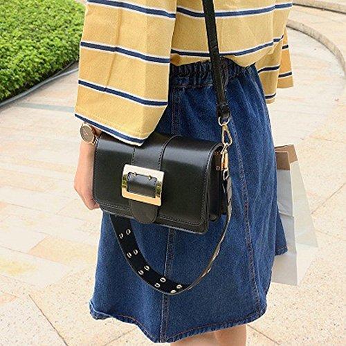 Helle Seite Des Kleinen Quadratischen Paket Mode Schulter Messenger Bag Paket Schwarz