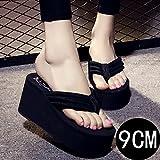 Sandalias y zapatillas de mujer coreanas con talón muy alto, con solapas para la playa,...