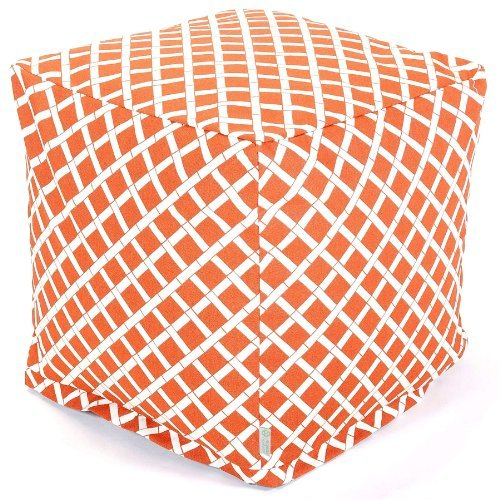 Majestic Home Goods Burnt Orange Bamboo Cube, Small by Majestic Home Goods -