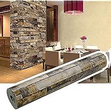 Papel Pintado Pared 3D Ladrillo(10M*0.53M)El Ladrillo Retro se Utiliza Para Adornar la Sala de Estar el Dormitorio la Cocina (Ladrillo Papel Pintado A)