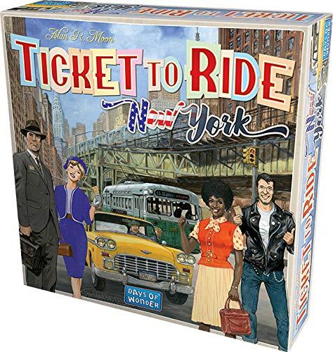Asmodee Italia- Ticket To Ride New York Gioco da Tavolo, Colore Azzurro, 720560