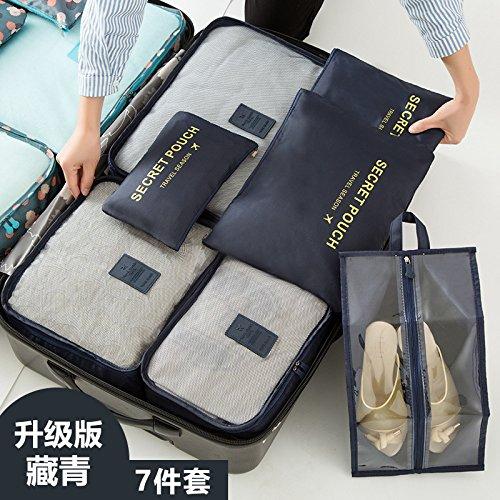 BATTAR-Einfache Polyester-Verpackungs-Beutel-Reise-Verpackungs-Organisatoren Faltbare freie Gepäck-Organisatoren bilden Beutel-Kasten,Travel bag, B