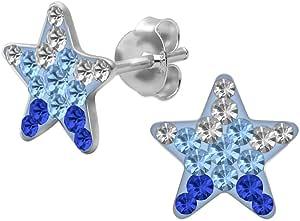 1 paio Soul-Cats ® Orecchini 925 sterling stella d'argento Strasburgo Bambini