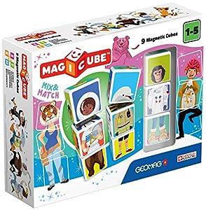 Geomag- Magicube Mix & Match Juguetes de construcción,, 9 Piezas (124)