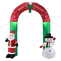 wolketon Père Noël Gonflable de Noël Porte arquée de 2,40m Décoration de Noël Auto-Gonflable de Haut Décoration…