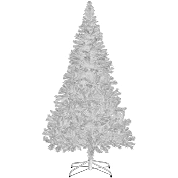Deuba Sapin de Noël Arbre Artificiel Blanc 150 cm avec Support 350 Branches Décoration fêtes Noel Maison