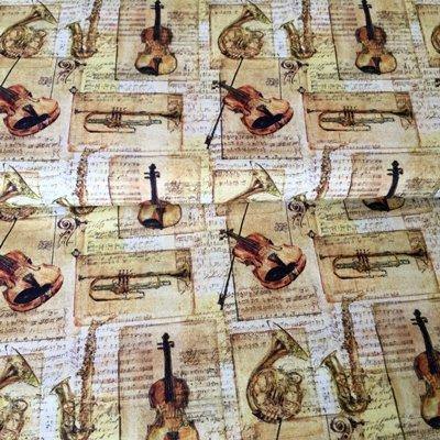 Tela de música–instrumentos musicales–mar04–por 0,5Metre–por marutx–100% algodón