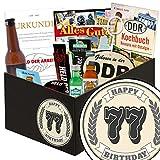 77 Geburtstag Geschenke Mann | Männer Box | Männer Set | 77. Geburtstagsgeschenk