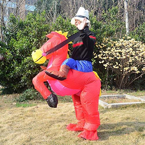ypyrhh Traje Hinchable, Disfraz de Halloween, Caballo Inflable, Ropa Animal, Traje mágico, Pantalones Redondos, adecuados para la Altura 150-185cm.