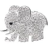 Nopnog Auto Lufterfrischer Elefant Diamant Kristall Ornament Klammer Parfüm Auto Dekoration Silber Auto