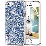 OKZone Funda iPhone SE,Funda iPhone 5/5S, Cárcasa Lujosa Brilla Glitter Brillante TPU Silicona...