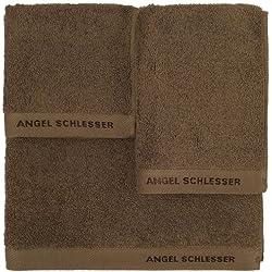 Angel Schlesser Juego toallas 3 Marrón