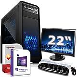 Gaming PC Komplett Set/Multimedia Computer inkl. Windows 10 Pro 64-Bit! - AMD Quad-Core A10-7890K 4X 4.1 GHz - AMD Radeon R7-16GB DDR3 RAM - 120GB SSD + 1000GB HDD - 22-Zoll TFT Monitor - 24-Fach