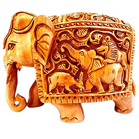Gangamani tendances à la main en bois sculpté faite doté