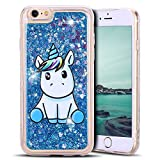 Mosoris Coque iPhone 6S Glitter Liquide Cover Mode 3D TPU Etui Licorne iPhone 6...