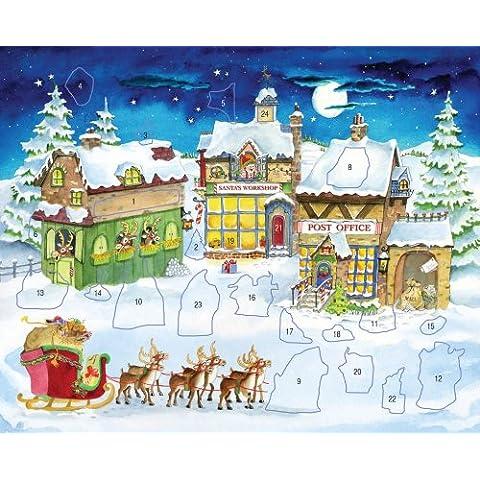 Calendario dell'Avvento con Adesivi Babbo Natale